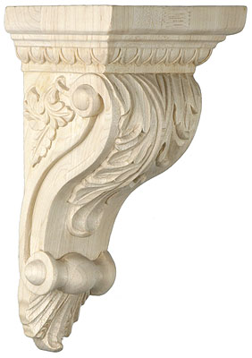 Foliage Motif Corbel In 4 Sizes With Choice Of Wood