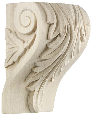 Leaf Pattern Corbel In 4 Sizes With Choice Of Wood House