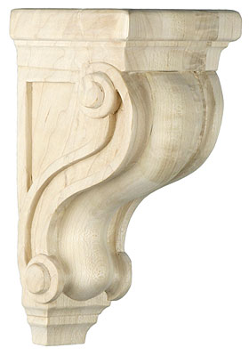 Scroll Design Corbel In 5 Sizes With Choice Of Wood