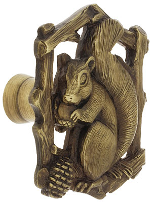 Grey Squirrel Cabinet Knob Right Hand 1 5 8 Quot X 1 1 2