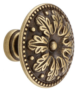 Leaf Design Cabinet Knob With Choice Of Finish House Of