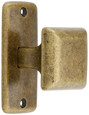 Mission Square Cabinet Knob With Rectangular Backplate