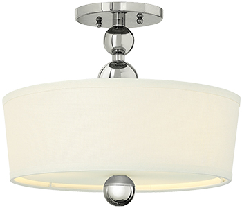 Zelda semi flush ceiling light with linen drum shade house of zelda semi flush ceiling light with linen drum shade aloadofball