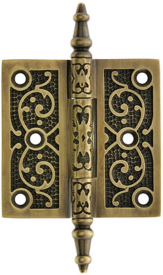 3 decorative vine pattern hinge in antique by hand finish - Decorative Hinges