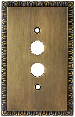Egg Amp Dart Design Push Button Light Switch Plate In