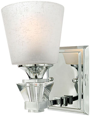 deluxe bath sconce in polished chrome chrome bathroom sconces