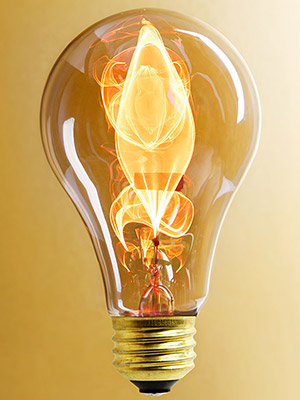 Electric Flame Carbon Filament Light Bulb 15 Watt