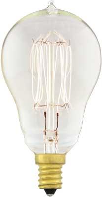 Quot Squirrel Cage Quot A15 Candelabra Base Light Bulb 25 Watt