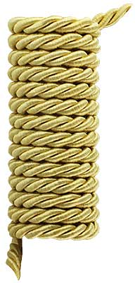Triple-Strand Twisted Picture Hanging Cord - 1/4-inch Diameter. (R-010SV-326-6X) Classical_Victorian_Arts&Crafts
