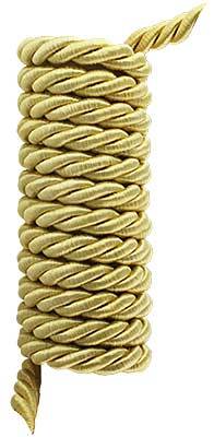 Triple-Strand Twisted Picture Hanging Cord - 5/16-inch Diameter. (R-010SV-326-8X) Classical_Victorian_Arts&Crafts