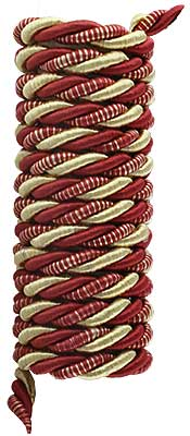 Triple Strand Multi-Color Picture Hanging Cord - 5/16-inch Diameter. (R-010SV-337-8X) Classical_Victorian_Arts&Crafts