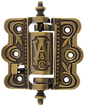 Decorative Cast Brass Screen Door Hinge In Antique By Hand