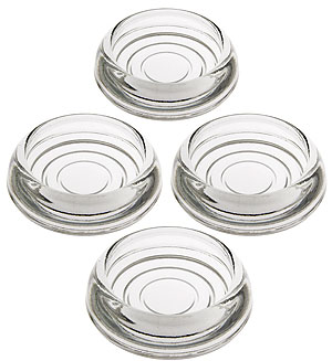 Set Of 4 Glass Furniture Caster Cups 3 Quot Diameter House