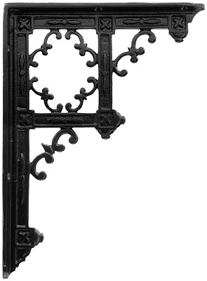 Victorian Gothic Cast Iron Shelf Bracket 9 1 4 X 6 3 4