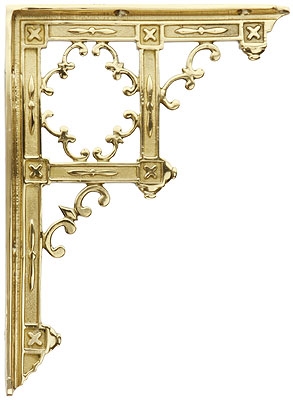 Brass Gothic Style Shelf Bracket 9 1 4 Quot X 6 3 4 Quot House