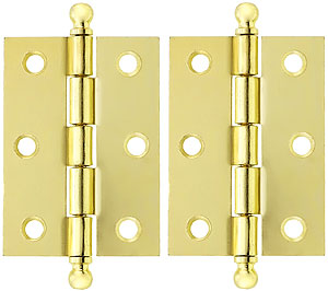 Pair Of Loose Pin Plated Steel Cabinet Hinges 2 7 16 Quot X