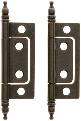 Pair Of 2 Quot Non Mortise Cabinet Hinges In Oil Rubbed Bronze House Of Antique Hardware