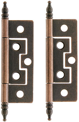 Pair Of 2 1 2 Quot Non Mortise Cabinet Hinges In Antique