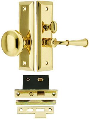 Swarthmore Screen Door Mortise Lock Set With 1 1 2