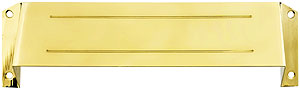 Solid Brass Mail Slot Hood For Open Back Plates House Of