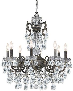 Legacy 8 light swarovski strass crystal bronze chandelier house of legacy 8 light swarovski strass crystal bronze chandelier mozeypictures Images