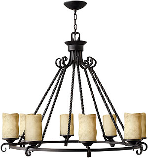 Casa 8 Light Candle Chandelier In Olde Black House Of