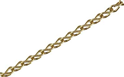 Solid-Brass Double Jack Picture Chain - #16. (R-010PC-SB-DJ-16X) Classical_Victorian_Arts&Crafts