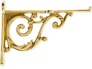 Small Brass Scroll Shelf Bracket 3 11 16 Quot X 4 15 16