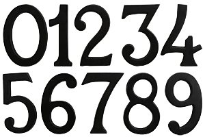 Cast Aluminum Italic House Numbers - 4