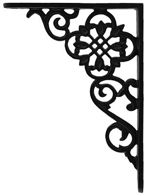 scroll design iron shelf bracket 7 1 8 x 6 1 8 house of