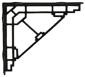 Mission Style Shelf Bracket In Matte Black 10 X 9