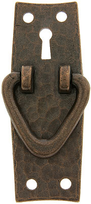 Stickley Style Arts Amp Crafts Vertical Pull With Keyhole