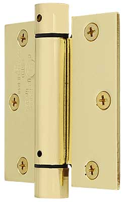 Plain Solid Brass Screen Door Hinge With Button Tips | House of
