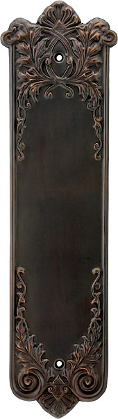 Lorraine Pattern Push Plate In Oil Rubbed Bronze House Of Antique Hardware