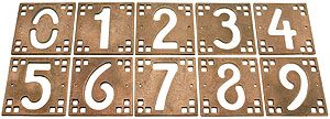 arts crafts house number tiles 5 height house of. Black Bedroom Furniture Sets. Home Design Ideas