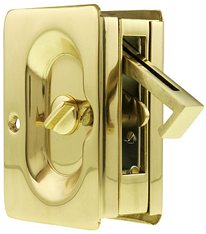 Premium Quality Mid Century Pocket Door Privacy Lock Set