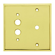Classic Push Button / Rotary Dimmer Combo Switchplate In Polished Brass