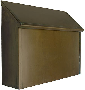 Arts Amp Crafts Handcrafted Solid Brass Horizontal Mailbox