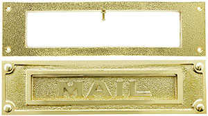 Heavy Duty Brass Traditional Mail Slot With Open Backplate
