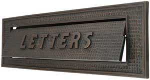 Large Bungalow Mail Slot With Quot Letters Quot Front Plate