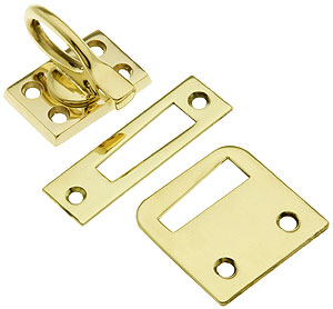 Solid Brass Casement Window Latch With Ring Handle House