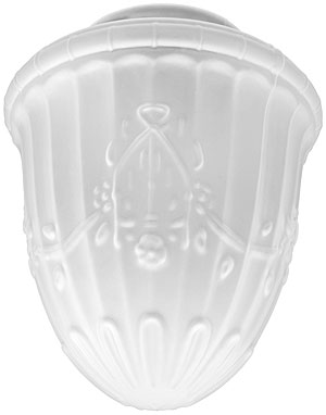 Decorative Etched Glass Shade With 4 Quot Fitter House Of