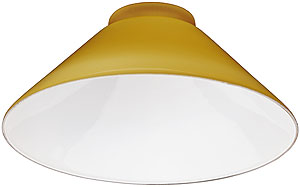 Amber Cased Glass Cone Shade With 3 1 4 Quot Fitter House Of