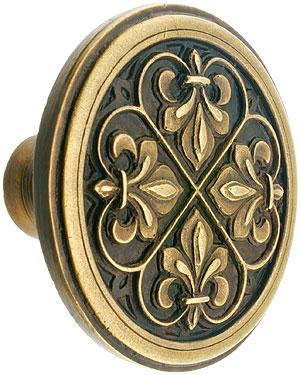Fleur De Lis Cabinet Knob 1 38 Diameter House Of Antique Hardware