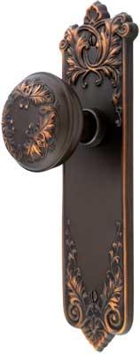 Lorraine Passage Door Set With Matching Knobs In Oil