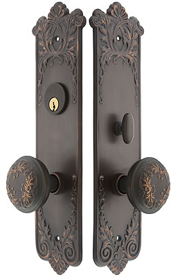 Lorraine Mortise Entry Set In Oil Rubbed Bronze 2 1 2