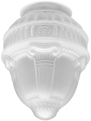 Neo Classical Etched Glass Shade With 3 1 4 Quot Fitter