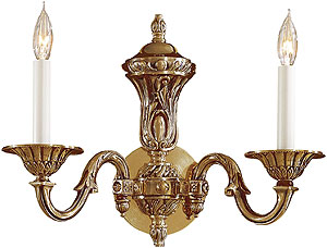 English Georgian Sconce In Antique Classic Brass Finish