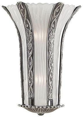 Hollywood Deco Theater Sconce With Platinum Finish House