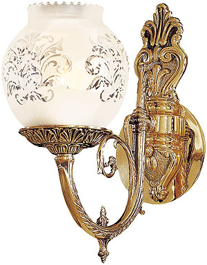 English Victorian Sconce With Etched Glass Shade House